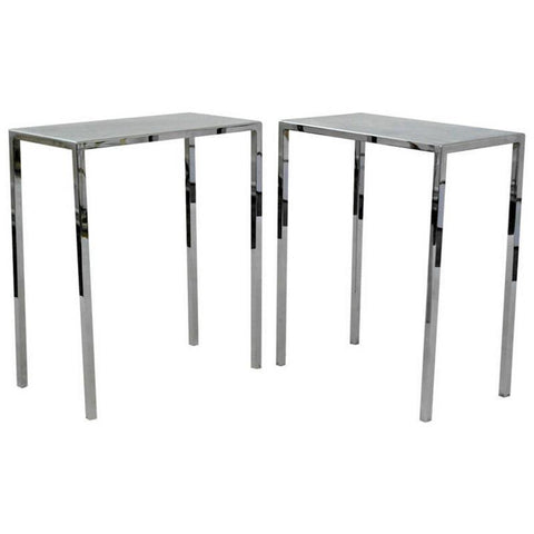 Pair of Chrome Side Tables by Philippe stark - A Modern Grand Tour