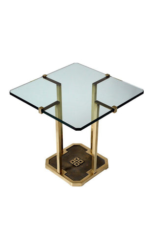 Gold Side Table with Glass Top - A Modern Grand Tour