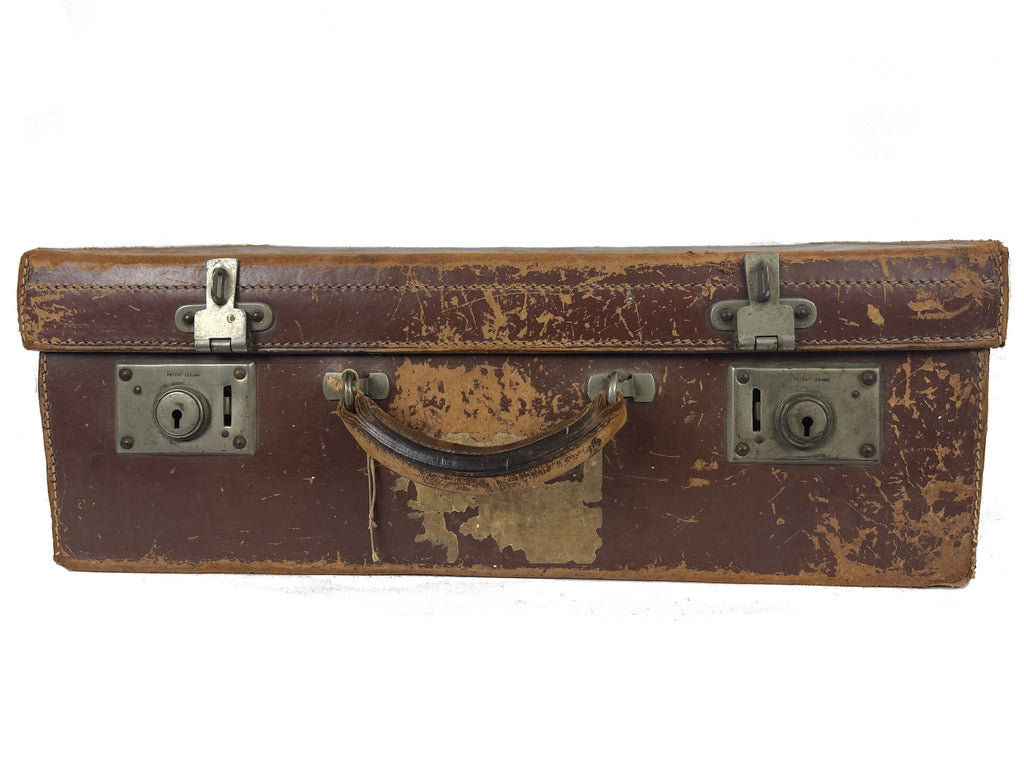 Small Brown Leather Trunk