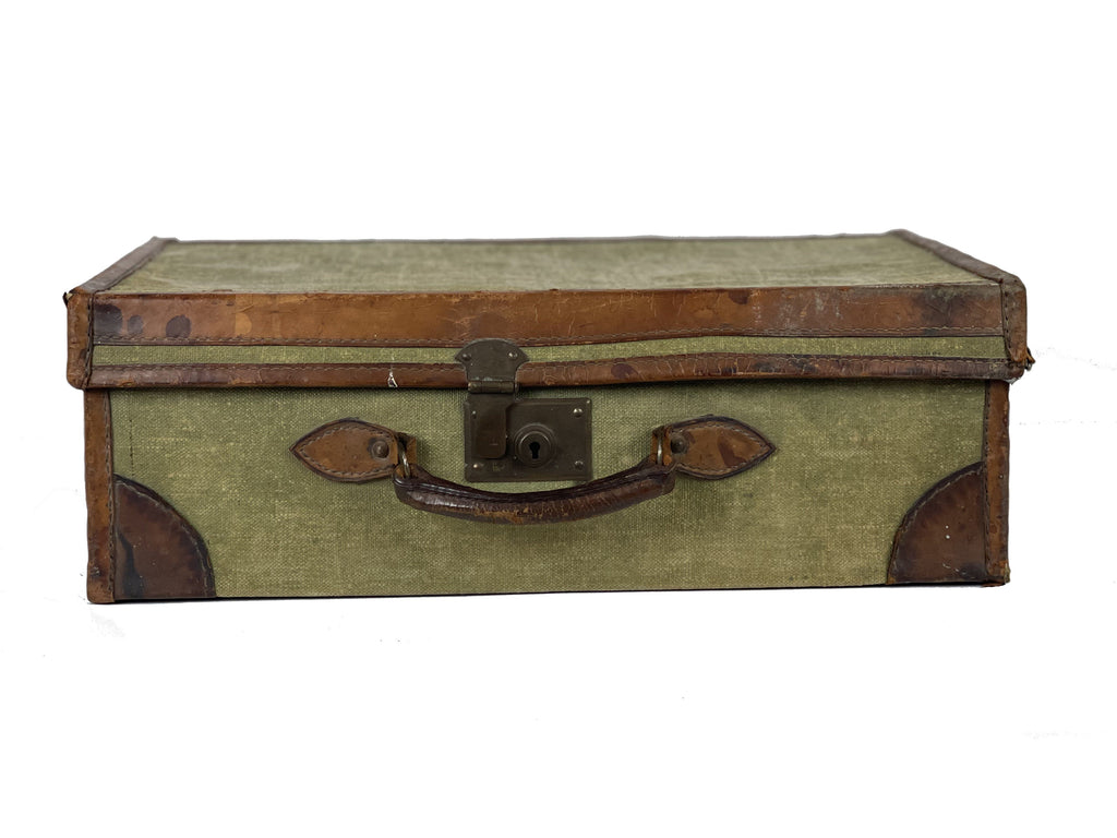 Vintage Green Material Trunk
