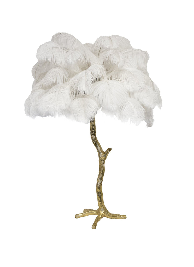 The Feather Table Lamp - A Modern Grand Tour