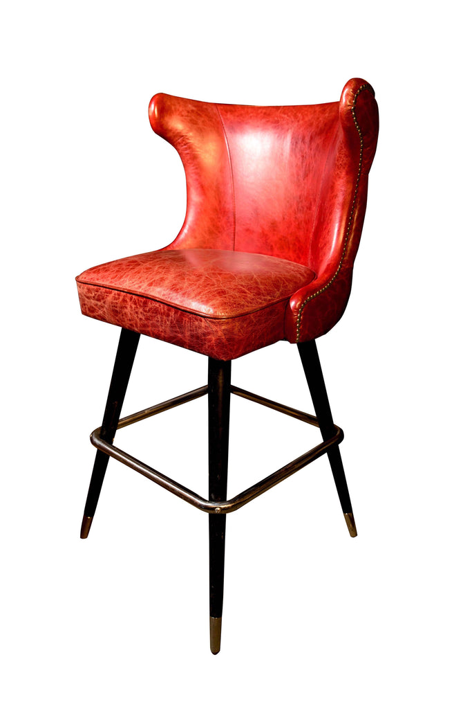 A Victorian Style Button Back Bar Stool