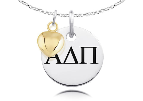 Alpha Delta Pi Necklace with Heart Charm