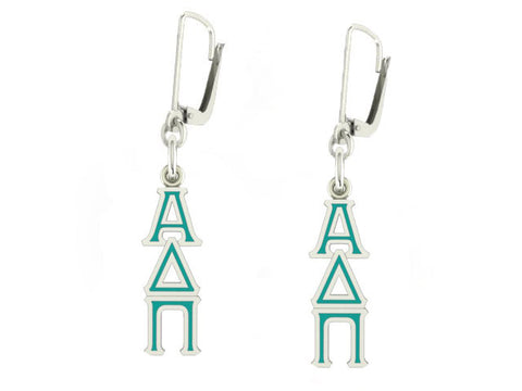 Alpha Delta Pi Lavaliere Lever-back Enamel Earrings