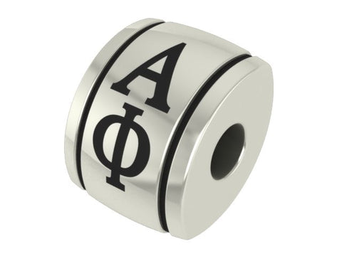 Alpha Phi Sterling Sorority Barrel Charm