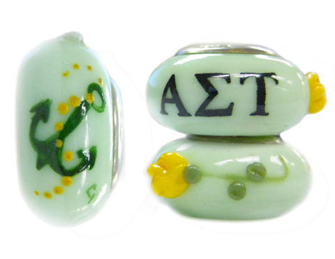 Alpha Sigma Tau Glass Pandora Bead