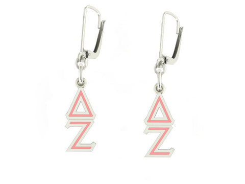 Delta Zeta Lavaliere Lever-back Enamel Earrings