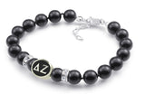 Delta Zeta Black Pearl Antique Bead Bracelet