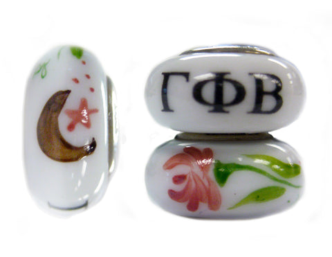 Gamma Phi Beta Glass Pandora Bead