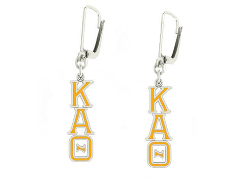 Kappa Alpha Theta Lavaliere Lever-back Enamel Earrings