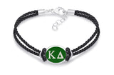 Kappa Delta Double Strand Rubber Bracelet with Color Enamel Top