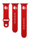 Louisville Cardinals Silicone Sport Band Fits on Apple Watch