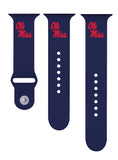 Mississippi Ole Miss Silicone Sport Band Fits Apple Watch