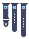North Carolina Tar Heels Silicone Sport Band Fits Apple Watch