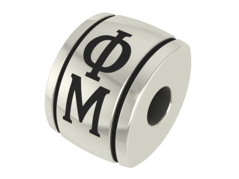 Phi Mu Sorority Barrel Charm