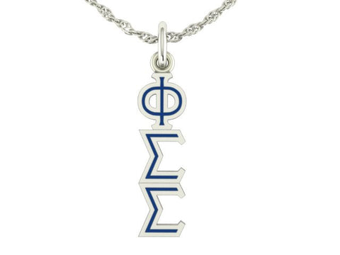 Phi Sigma Sigma Color Enamel Lavaliere Charm
