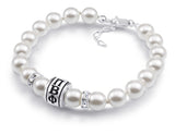 Pi Beta Phi Barrel Pearl Bracelet