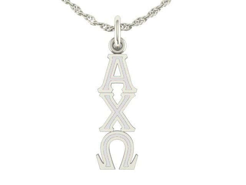 Alpha Chi Omega Silver Lavaliere Charm