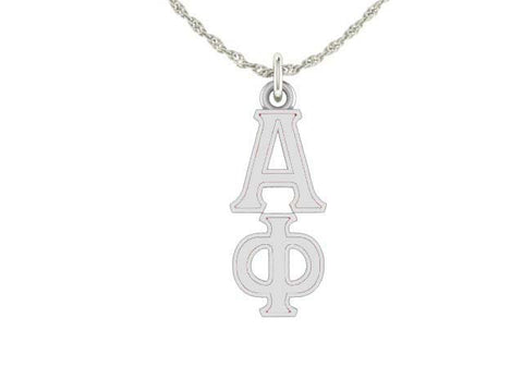 Alpha Phi Silver Lavaliere Charm