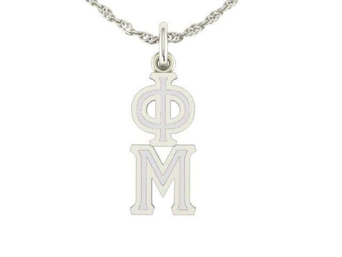 Phi Mu Silver Lavaliere Charm