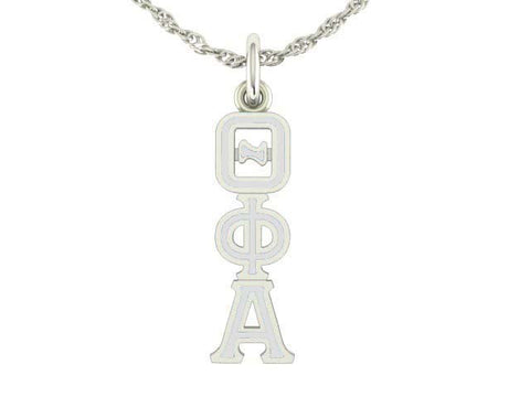 Theta Phi Alpha Silver Lavaliere Charm