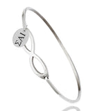 Sigma Alpha Iota Greek Letters Infinity Style Bangle Bracelet
