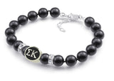 Sigma Kappa Black Pearl Antique Bead Bracelet
