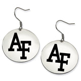 Air Force Academy Falcons Stainless Steel Disc Earrings