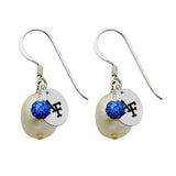 Air Force Falcons Color and Freshwater Pearl Earrings