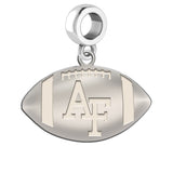 Air Force Falcons Football Dangle Charm With a Natural Finish