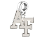 Air Force Falcons Natural Finish Logo Dangle Charm