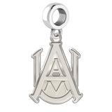 Alabama A&M Bulldogs Natural Finish Logo Dangle Charm