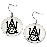 Alabama A&M Bulldogs Stainless Steel Disc Earrings