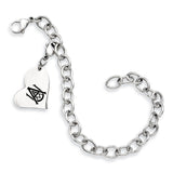 Alabama A&M Stainless Heart Bracelet
