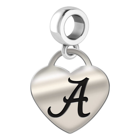 Alabama Crimson Tide Heart Drop Charm