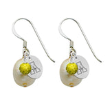 Appalachian State Mountaineers Color and Freshwater Pearl Earrings