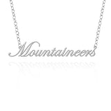 Appalachian  State Mountaineers  Sterling Silver Cutout Script Necklace