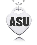 Arizona State Sterling Silver Heart Charm