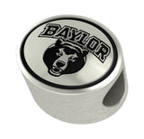 Baylor Bears Bead Fits Most European Style Bracelets