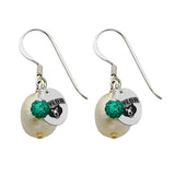 Baylor Bears Color and Freshwater Pearl Earrings