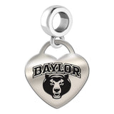 Baylor Bears Heart Drop Charm