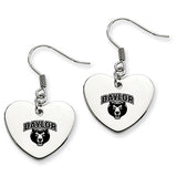 Baylor Bears Heart Drop Earrings