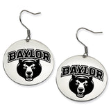 Baylor Bears Stainless Steel Disc Earrings
