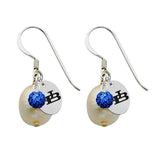Buffalo Bulls Color and Freshwater Pearl Earrings