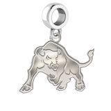 Buffalo Bulls Natural Finish Logo Dangle Charm