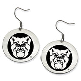 Butler Bulldogs Stainless Steel Disc Earrings
