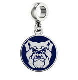 Butler Bulldogs Silver Logo and School Color Drop Charm