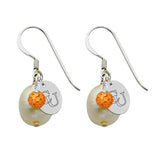 Campbell Fighting Camels Color and Freshwater Pearl Earrings