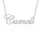 Campbell Fighting Camels Sterling Silver Cutout Script Necklace