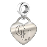 Campbell Fighting Camels Heart Drop Charm
